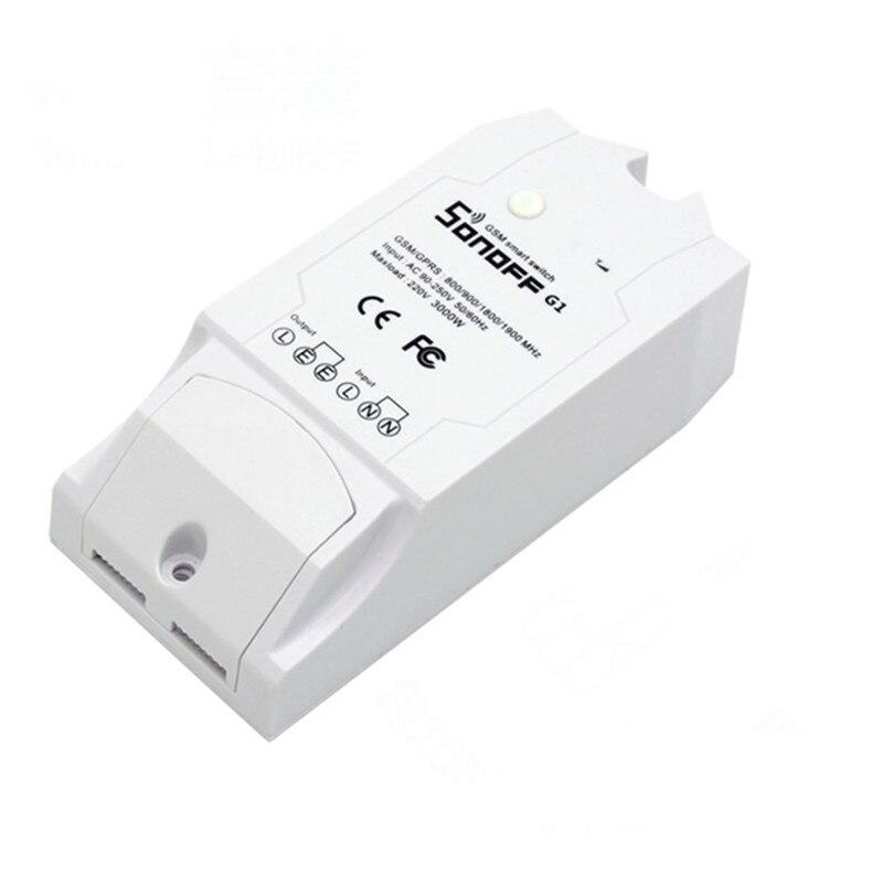 imágenes para Interruptor WiFi GPRS G1 SONOFF Bomba de Agua Interruptor de Control Remoto Del Teléfono Móvil GSM de Control Remoto Luces para Uso en Exteriores
