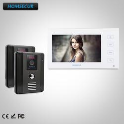"""HOMSECUR 7 """"проводной видео и аудио Smart дверной звонок + ИК Ночное видение для квартиры: TC011-B + TM704-W"""