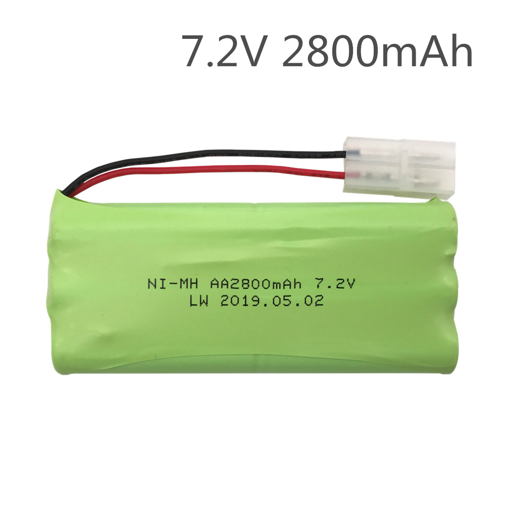 <font><b>7.2V</b></font> 2800mAh <font><b>NiMH</b></font> Rechargeable RC toy Battery with <font><b>Tamiya</b></font> Discharge Connector for RC Racing Cars Boat Aircraft image
