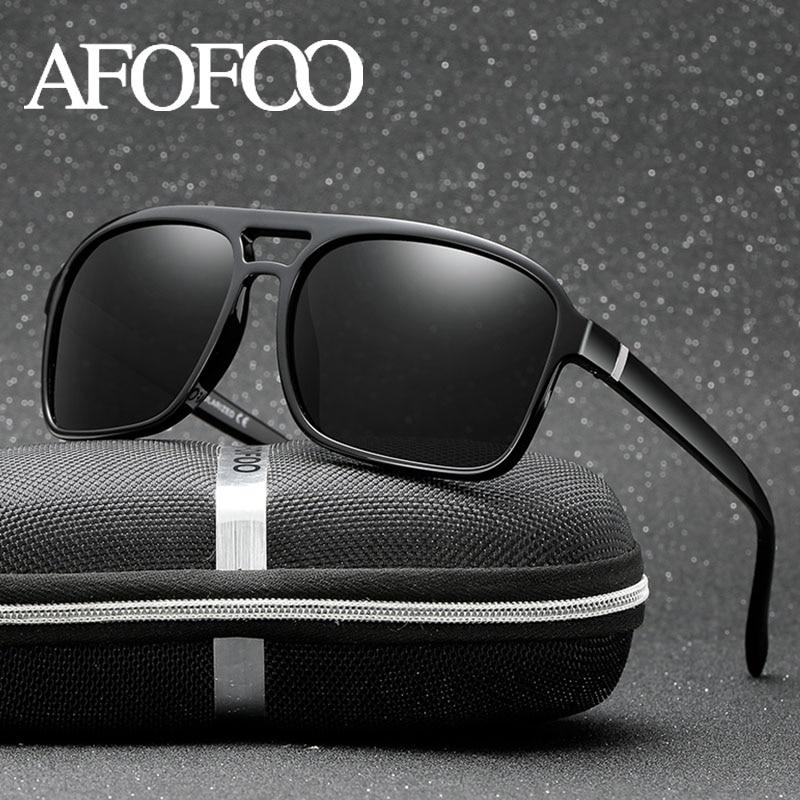 AFOFOO diseño de marca hombres Gafas de sol polarizadas TR90 Vintage  conducción de los hombres Gafas 7fc6ac62e21f