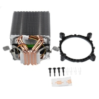 Silent 3 4 Pin CPU Cooler 4 Heatpipe Radiator Cooling Fans Computer Heatsink Fan For Intel