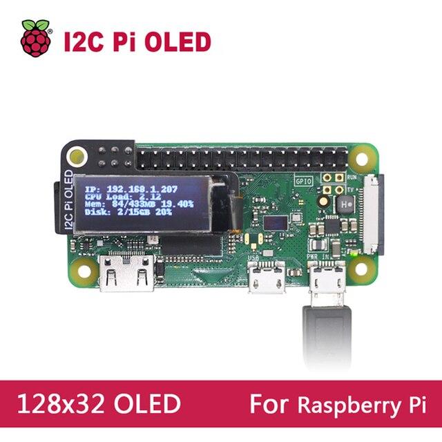 מיני 0.9 אינץ OLED תצוגת 128x32 רזולוציה עבור פטל Pi 2 3 B אפס