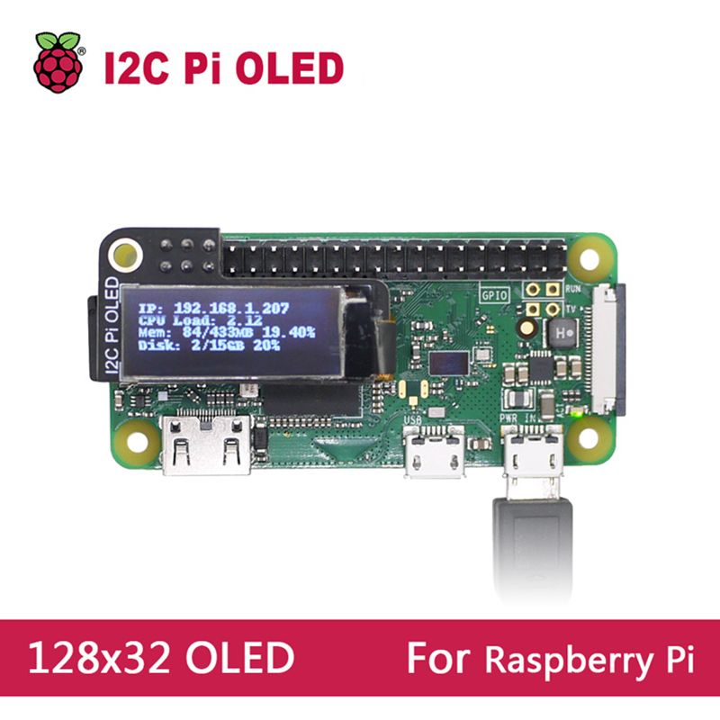 Mini 0.9 inch OLED Display 128x32 resolution For Raspberry Pi 2 3 B Zero-in Amplifier from Consumer Electronics