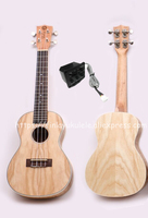 Finlay 23 ukulele,Electric ukelele with nylon bag,Full Ash wood top/body hawaii guitars,FU S81E,Concert ukulele