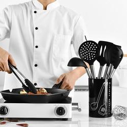 9 sztuk zestaw naczyń kuchennych narzędzia kuchenne odporne na ciepło non-stick łyżka łopatka kadzi jaj pałeczki naczynia akcesoria akcesoria