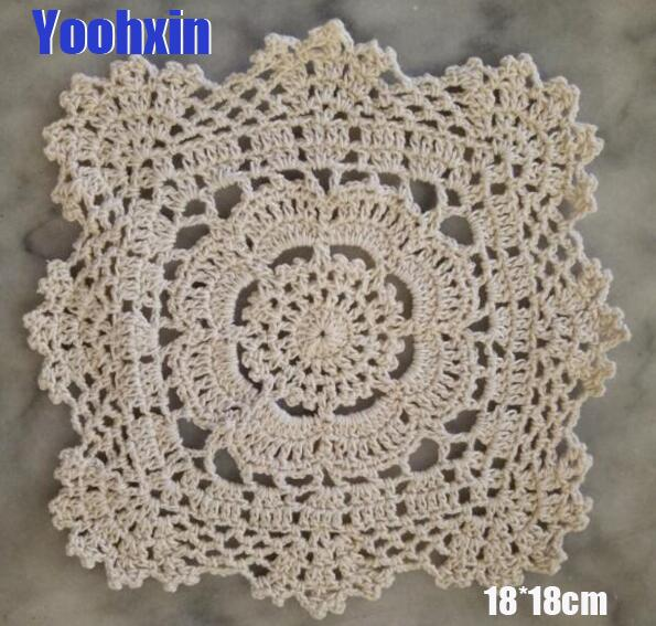 Hot Handmade Lace Cotton Table Place Mat Crochet Coffee Placemat