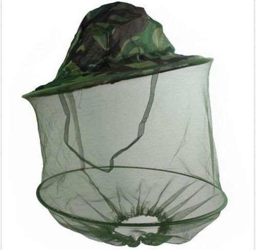Camouflage Mosquito Cap Women Men Midge Fly Insect Bucket Hat Fishing Camping Field Jungle Mask Face Protect Cap Mesh Cover novelty women men winter warm black full face cover three holes mask beanie hat cap fashion accessory unisex free shipping