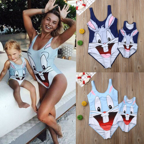 2019 Mommy And Me Outfits Mother Daughter Matching Women Kid Girl Bikini Swimwear Swimsuit Bathing Suit
