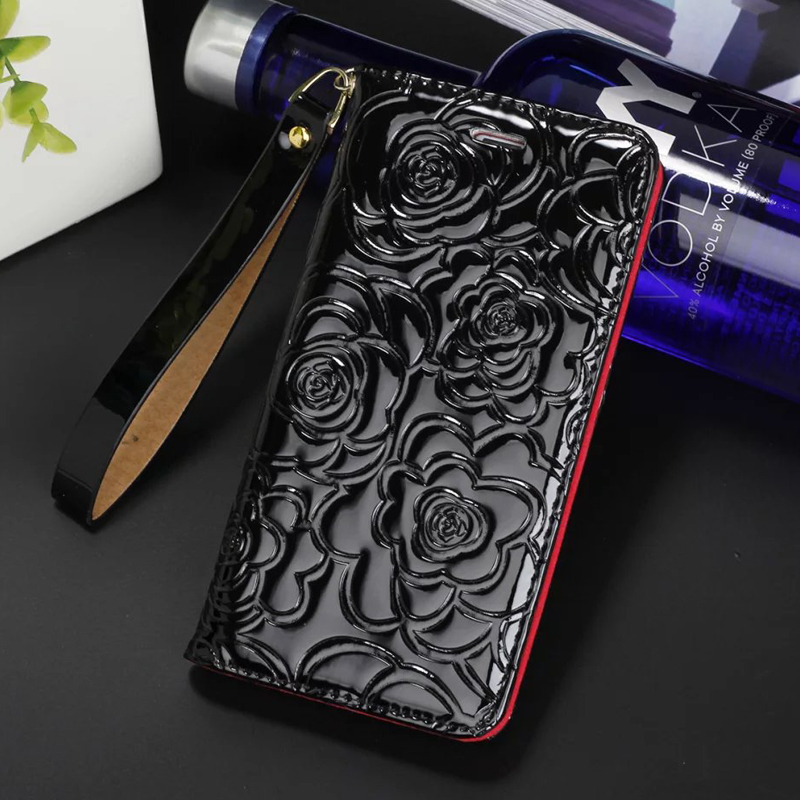 Luxury colorful leather off the camellia mobile phone case for iPhone6S 7 8Plus XS XR XS