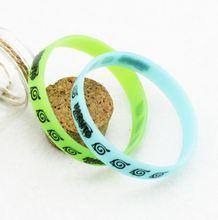 Luminous Konoha Logo Printed Silicone Bracelet Set