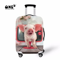 ONE2 2017 New Design Travel Suitcase Cover Protector Printing With Television Pig Apply To 18 30