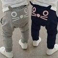 Retail 2017 nueva primavera y otoño ropa niños niñas pantalones de harén de algodón búho pantalones pantalones bebé