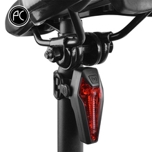 PCycling Bicycle Rear Light IPX-4 Waterproof Cree LED Red Light USB Charge Breathing Bike Light Cycling Warning Light