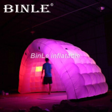 Hot sale 5mW air half dome inflatable tent with led lights inflatable party wedding tent exhibition booth  tent muntifunctional