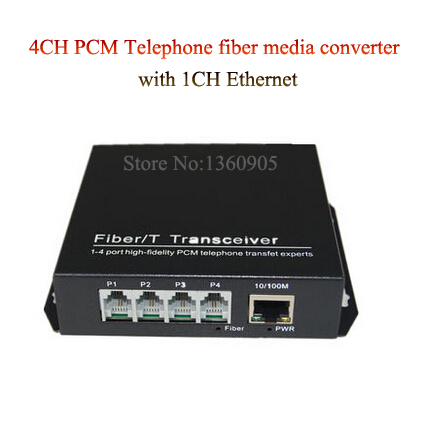 4 Channel PCM Voice Telephone fiber optical media converter with 1ch Ethernet 1Pair -FC Single Mode 20KM Multi-mode 300Meters 4 channel pcm voice telephone fiber optical media converter with 1ch ethernet 1pair fc single mode 20km multi mode 300meters