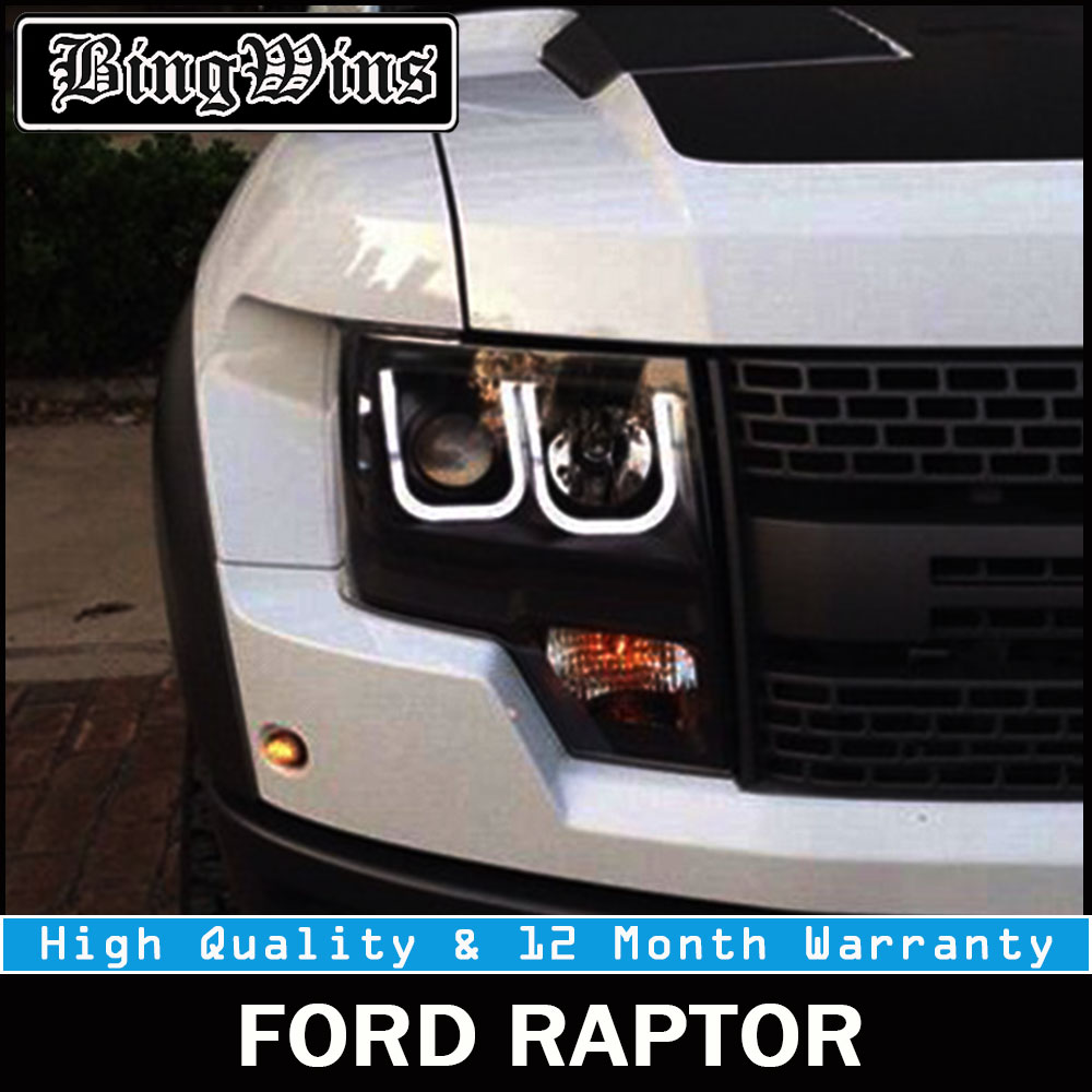 BEINGWINS Car Styling for Ford Raptor LED Headlight F150 Headlights 2011-2014 DRL Lens Double Beam H7 HID Xenon Car Accessories