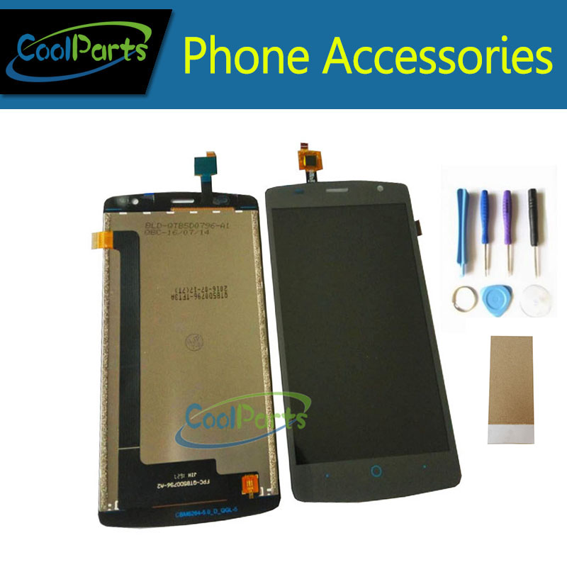 1pc/lot High Quality For Zte Blade L5 Lcd Display Screen+ Touch Screen Digitizer Assembly Black Color With Tool&tape
