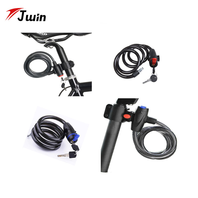 Outdoor Useful Cycling Cable Key Anti-Theft Bike Scooter Lock With 2 Keys G