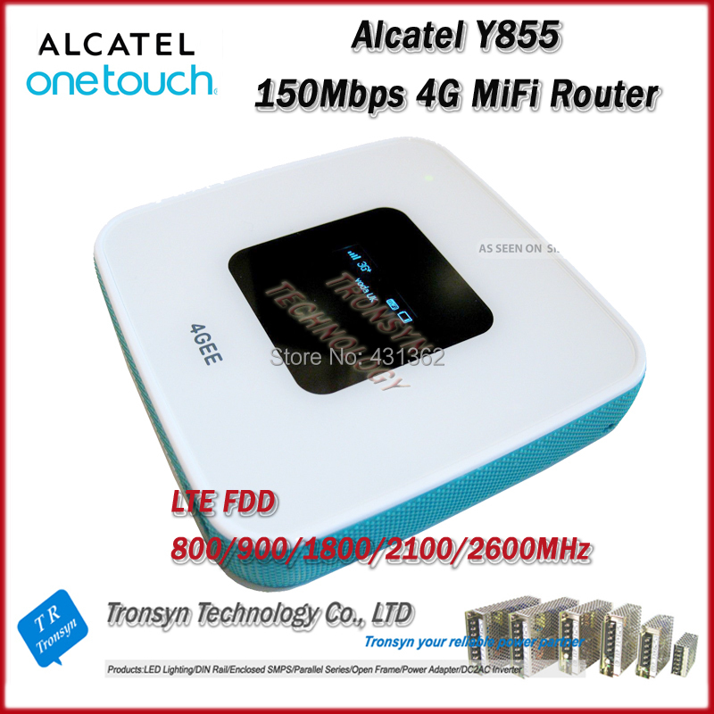 New Arrival Original Unlock LTE FDD 150Mbps Alcatel One Touch Y855 4G MiFi Router Support LTE FDD 800/900/2100/1800/2600MHz unlocked lte fdd 150mbps huawei e3272s 600 with antenna 4g lte modem support lte fdd 900 1800 2100 2600mhz