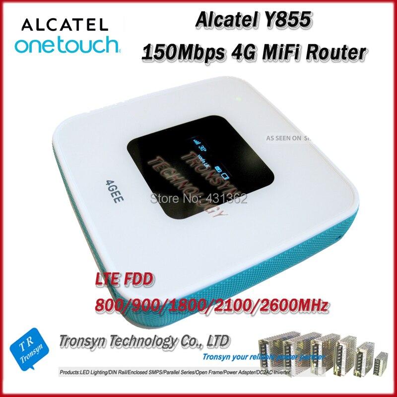 Nouvelle Arrivée D'origine Unlock LTE FDD 150 Mbps Alcatel One Touch Y855 4G MiFi Routeur Soutien LTE FDD 800/900/2100/1800/2600 MHz