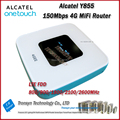 Nueva llegada original desbloquear lte fdd 150 100mbps alcatel one touch y855 4g mifi soporte lte fdd 800/900/2100/1800/2600 mhz