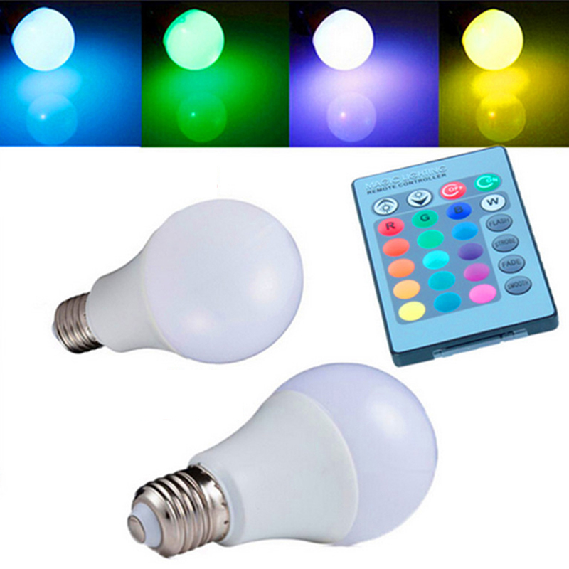 3/5/10/15W E27 RGB LED Bulbs AC85-265V Spot Blubs Holiday Night Party Lamp With Magic Multifunction Colored Light Remote Control mipow btl300 creative led light bluetooth aromatherapy flameless candle voice control lamp holiday party decoration gift