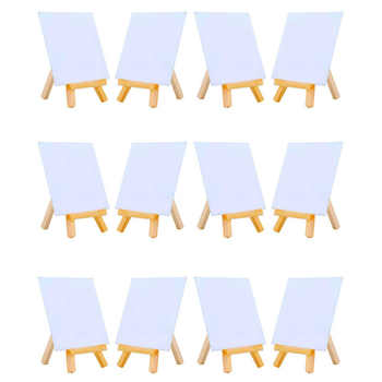 MEEDEN 4 by 4 Inch Mini Canvas and 3 by 5 Inch Mini Wood Easel Set for Painting Drawing School Student Artist Supplies, 12 Pack - DISCOUNT ITEM  8% OFF All Category