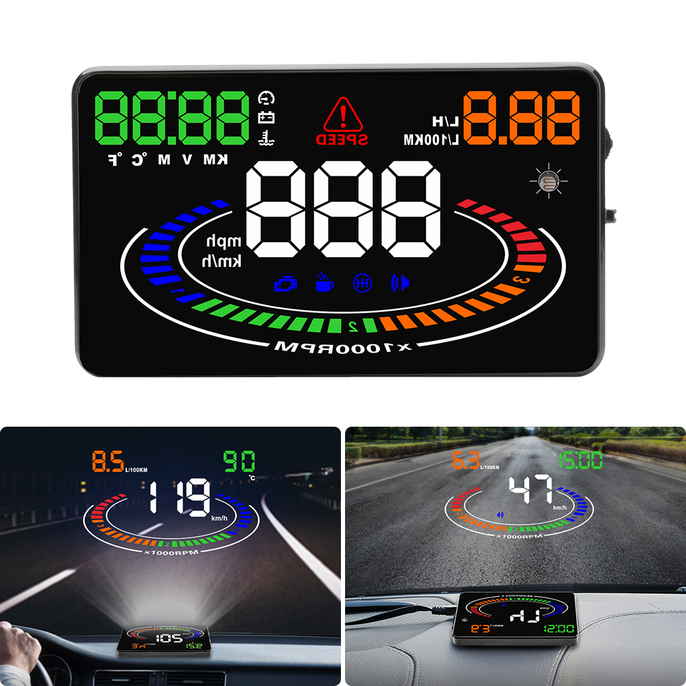 Image 2 - GEYIRE E300 HUD OBD2 Head Up Display Car velocidad proyector OBD UE MPH KM/H Digital Coche velocimetro enel parabrisas Proyector-in Head-up Display from Automobiles & Motorcycles