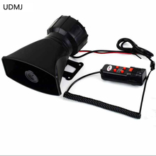 цена на Free Shipping 100W Car 5 Tone Loud Security Alarm Siren   Horn 300db 12V