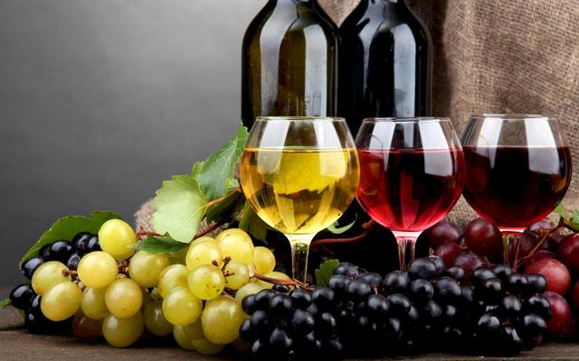 Bottle Food Glass Goblet Grapes Wine Home Decor Print On Canvas