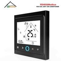 HESSWAY 2P fan spule MODBUS RS485 thermostat kühlung heizung 3 geschwindigkeit für contuol NC KEINE ventil