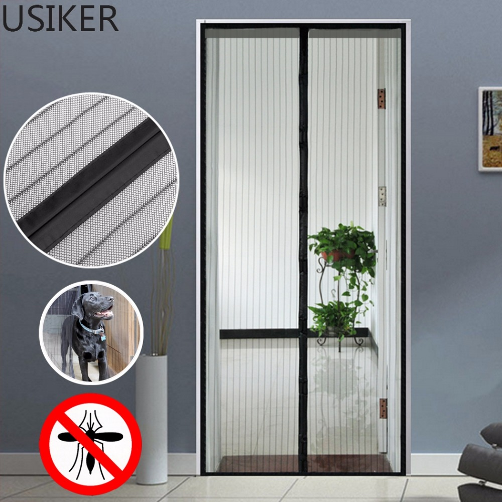 Fly screens for doors and windows - Summer Magic Curtain Door Mesh Magnetic Door Prevent Mosquito Anti Insect Fly Bug Hand Free