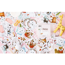45pcs/pack Cute Pet Collection Creative Ablum Diary Scrapbooking Label Sticker Stationery