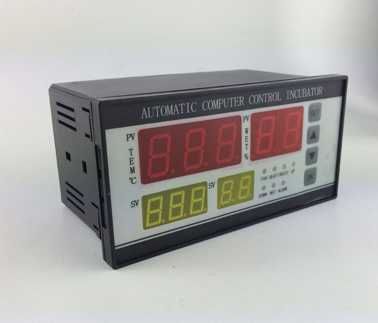 Full automatic and multifunction egg incubator controller incubator temperature and humidity controller intelligent pid temperature humidity controller lcd display multifunction automatic egg incubator controller with two sensors