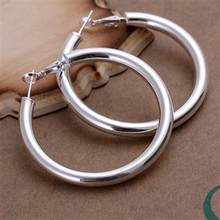 925 stering silver jewelry silver hoop earring hot sale fashion women finding new 5mm empty tube round hoop earing CE149(China)