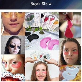 BREYLEE 24K Gold Eye Mask 6pairs Collagen Crystal Serum Eye Patches Anti Wrinkle Puffiness Face Skin