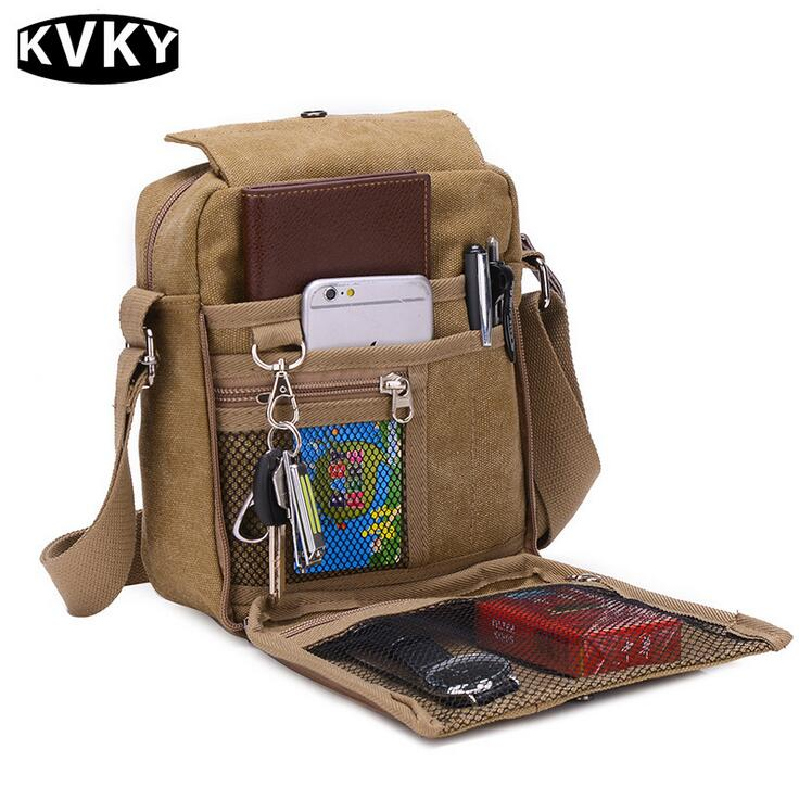 KVKY Canvas Casual Multi-function Bag Men's Shoulder Bags Messenger Bag Tool Kits Organizer Bags For Out Door Travel fasite canvas tool bags for electrician with laptop bag handbag oxford fabric multi function tool bag free shipping