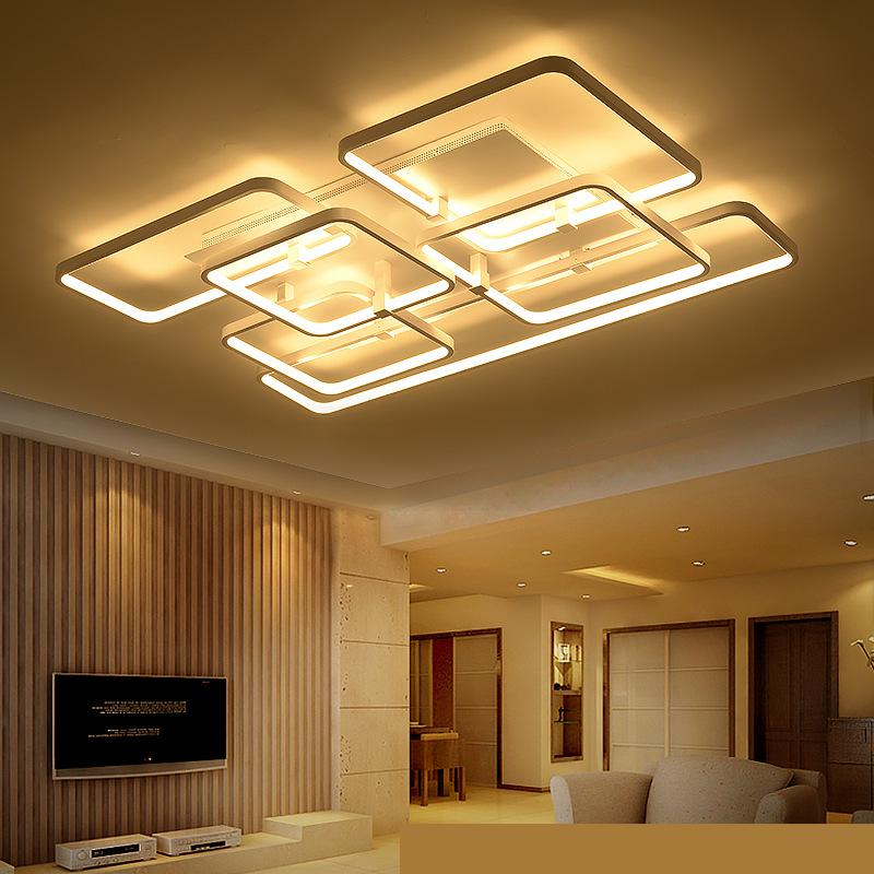 100v 220v acrylic led ceiling light plafoniere moderne for Techos livianos para casas