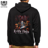 Rocksir New 3D Hoodies Men Hip Hop Band AC DC Graphic Printed Sweatshirt Homme Casual Long