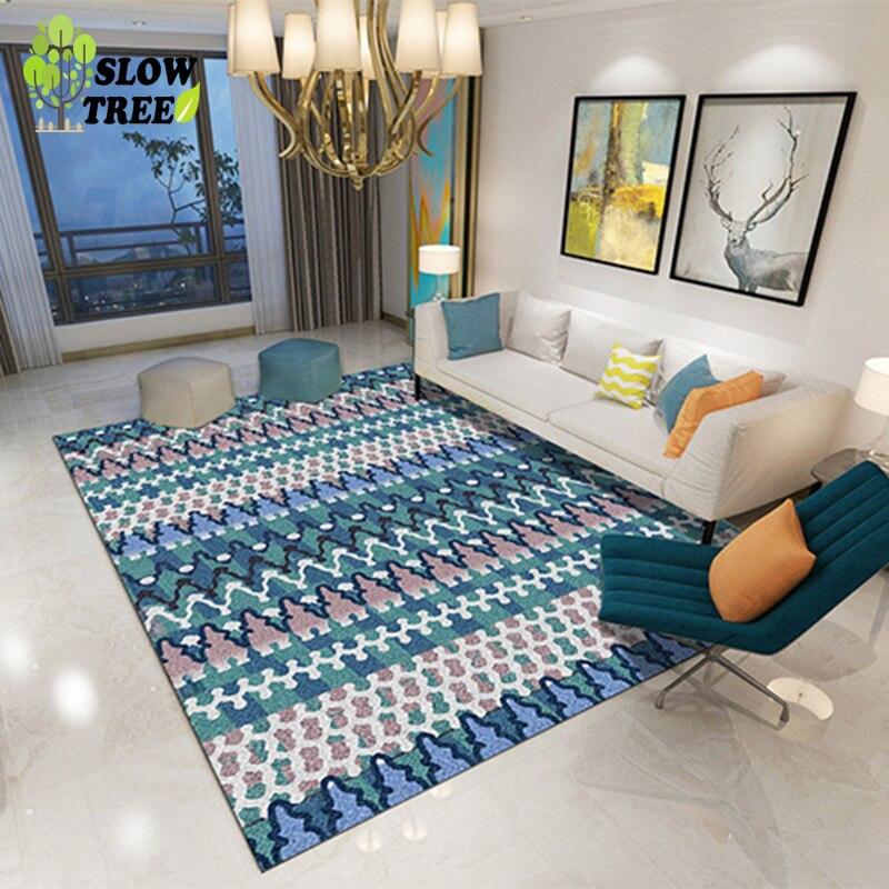 Lent arbre tapis moderne dans le salon grande Table basse géométrique chambre tapis 80x160CM Home Area photographie tapis