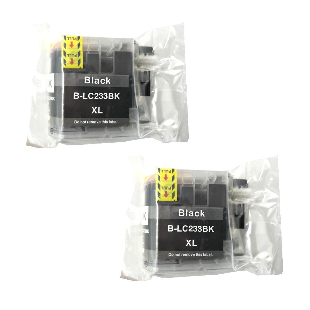 Черные картриджи 2PK LC233XL BK с полным покрытием для принтера Brother DCP-J562DW J4120DW MFC-J480DW J680DW J880DW J4620DW J5720DW J5320DW
