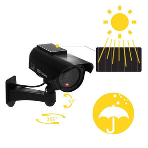 Image 1 - الطاقة الشمسية وهمية وهمية الأمن الأحمر LED CCTV كاميرا بجهاز اقتران الشحنات مراقبة المتغيرات