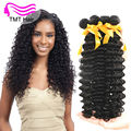 TMT 4 Bundle 10A Peruvian Deep Wave Virgin Hair 100% Unprocessed Peruvian Virgin Hair Cheap Peruvian Deep Wave Human Hair Bundle