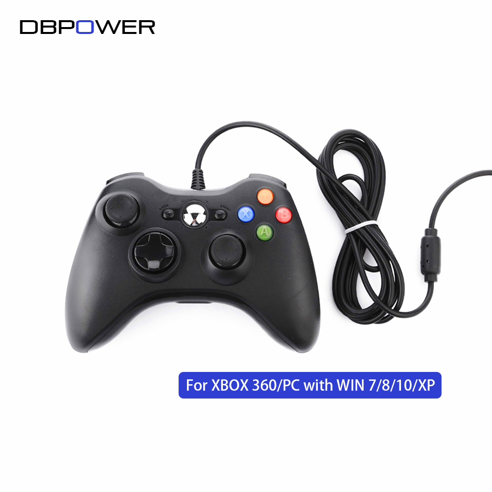 Dbpower usb wired game controller for xbox360 gamepad joypad joystick for xbox 360 controller slim accessory