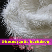 White Mongolian Curly Sheep Faux Fur Fabric Newborn Photo Backdrop Baby Photography Props Sold By The