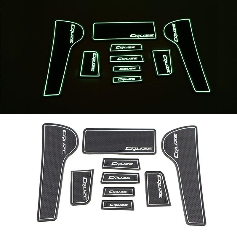 Jameo Auto Silicone Car Door Groove Mat Doors Anti Slip Mats For Chevrolet Chevry Cruze Sedan Hatchback 2009 - 2015 Accessories