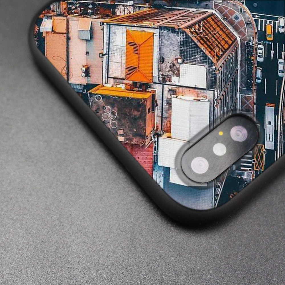 ניו יורק פעמים Squar שחור גומי רך TPU סיליקון Case כיסוי עבור iPhone X XS XR XS 11 11Pro מקסימום 7 8 6 6S 5 5S 5C SE בתוספת