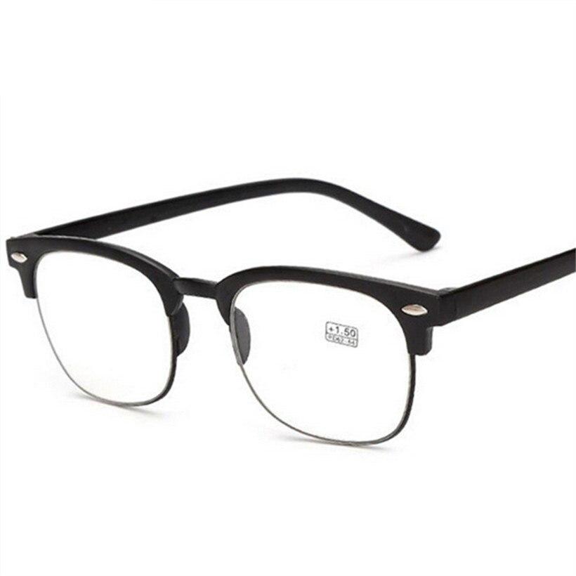 Damenbrillen Klassische Lesebrille Männer Tr90 Halb Rahmen Presbyopie Brillen Transparent Ultraleicht Anti Müdigkeit Brillen Frauen Starker Widerstand Gegen Hitze Und Starkes Tragen
