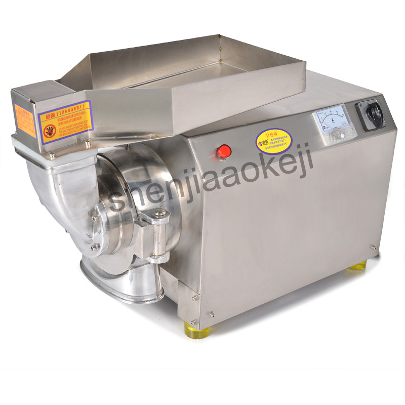 DLF-40 stainless steel Grinding machine Commercial Chinese herbal medicine Grinder Electric grinding maching pulverizer 2200w stainless steel chinese herbal crusher electric grinder 1000g household swing type cereals grinding machine mixer chopper device