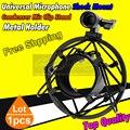 Top Quality Recording Studio Microphone Shock Mount Condenser Microphone Stand Metal Shockmount Clip Holder Suspension Spider
